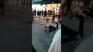 Thai boys incredible dance on phuket Bangla street