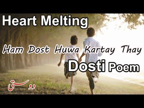 New Dosti Shayari - Ham Dost Thay - Friendship Poetry In Hindi/Urdu