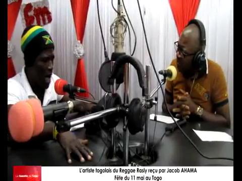 L'artiste togolais du Reggae Rasly reçu par Jacob AHAMA