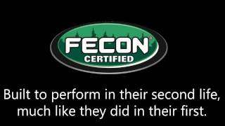 "Fecon now offers ""Certified"" Bull Hog ® Forestry Mulchers"
