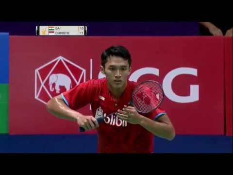 SCG Thailand Open 2017 | Badminton F M4-MS | Sai Praneeth B. vs Jonatan Christie
