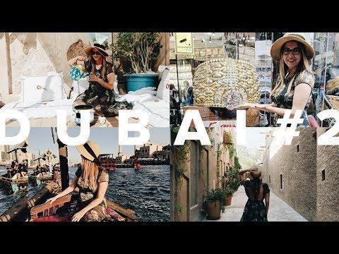 Comida árabe raiz, Cidade histórica Al Fahidi, Dubai Creek, Muito ouro no Gold Souk • Juliana Malta