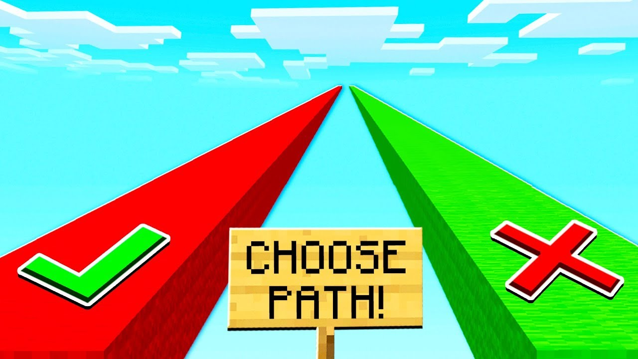 DON'T CHOOSE THE WRONG MINECRAFT PATH!