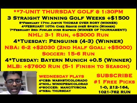 College Basketball Picks, MISSOURI +11.5 YESTERDAY, 7* GOLF THURSDAY (3-0) [02-20-19]