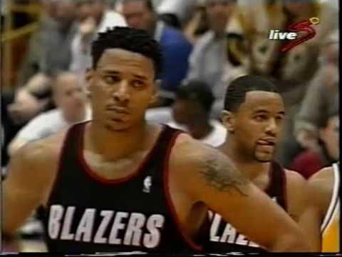 1998 NBA playoffs wcr1 game 2 Portland Blazers- Los Angeles Lakers