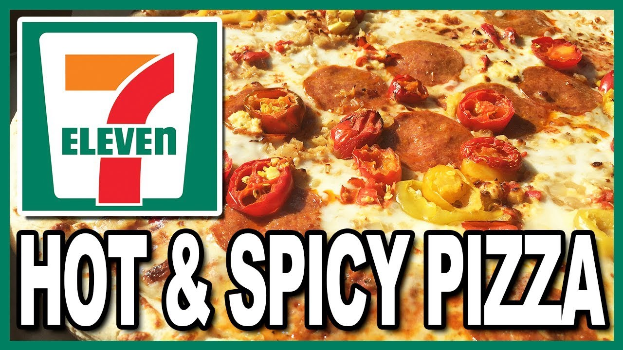 14 hot spicy pizza at 7 eleven youtube. Black Bedroom Furniture Sets. Home Design Ideas