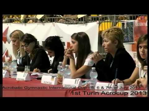 1st Turin Acrocup   Acrobatic Gymnastic International Cup   Day 3   part 1