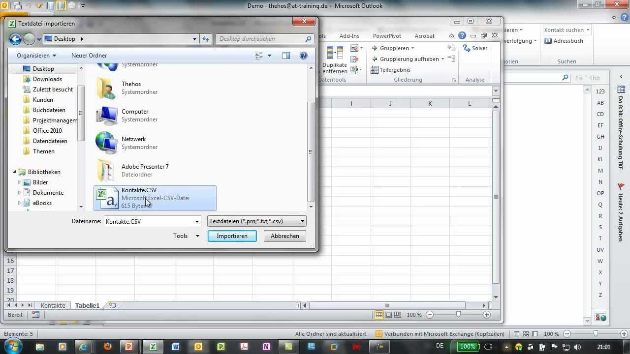 Outlook 2010 Kontakte Exportieren Adressen In Csv Datei Exportieren