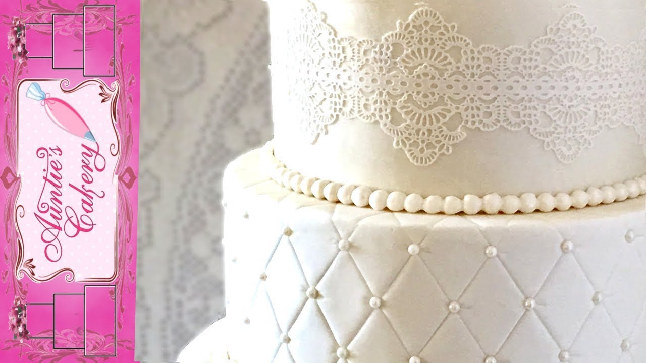 Quilted Lace Wedding Cake Youtube