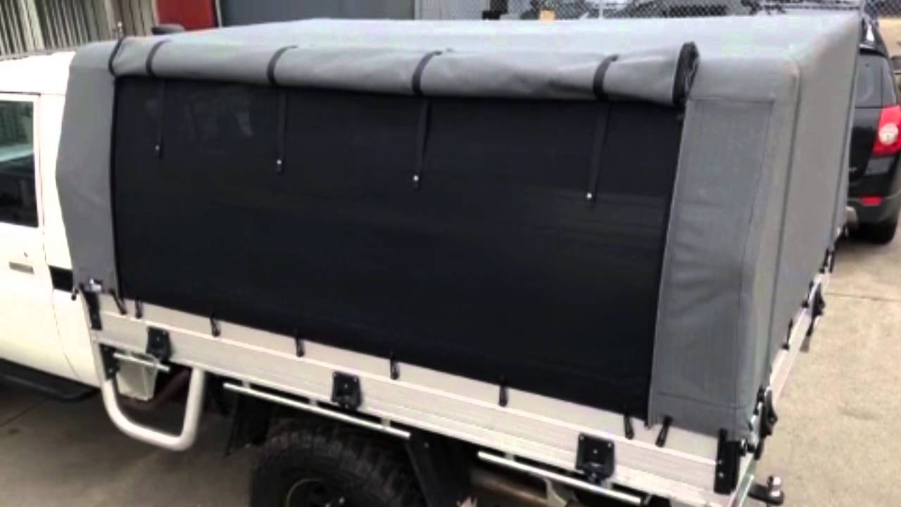Canvas Ute Canopy Melbourne - A Grade Upholstery - YouTube