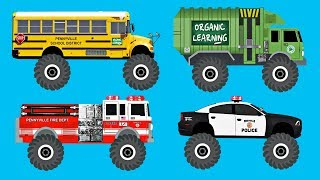 Learning 70 AWESOME Monster Vehicles for Kids - Best Learning Colors Video for Children & Toddlers