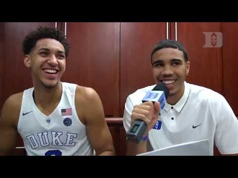 DBP: Jayson Tatum with Chase Jeter after Augustana Win