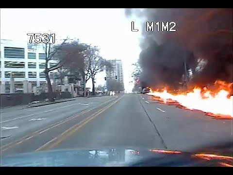 KOMO 4 News Helicopter Crash in Downtown Seattle (Video #2 - First On Scene)