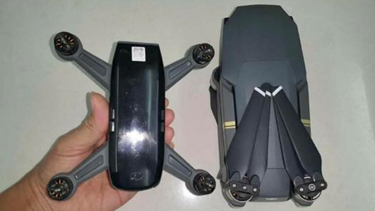 New Leaked Images Of The DJI Spark Mavic Size Comparison