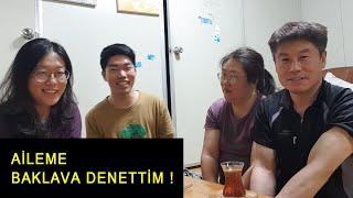 ilk defa baklavayı yiyen Korelilerin tepkileri  baklava