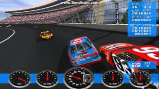 NASCAR Revolution (PC) Race #1 Gameplay (John Andretti) (Atlanta) (9 Laps)