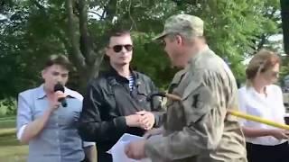 Надежду Савченко забросали яйцами АТОшники в Николаеве.