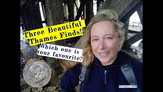 3 beautiful objects found in the Thames Mud - Which one is your favourite? Mudlarking w Nicola White