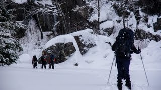 XC skiing in the Ontario backcountry. . .with friends