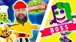 Ultimate Bowmasters - Bad Girl Destroys Mad Mike also with Old Man, Mr Gorskiy, Arnold & Master Chef