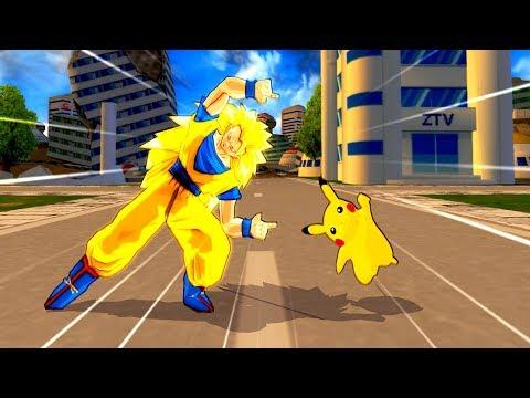 Pikachu and Goku SSJ3 FUSION | PIKACHU ON SSJ STEROIDS | DBZ Tenkaichi 3 (MOD)