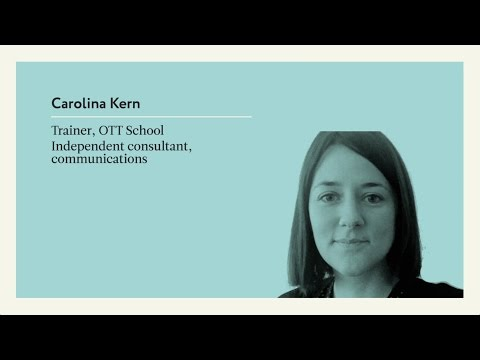 Carolina Kern. Independent Communications Consultant, And Trainer At The OTT School