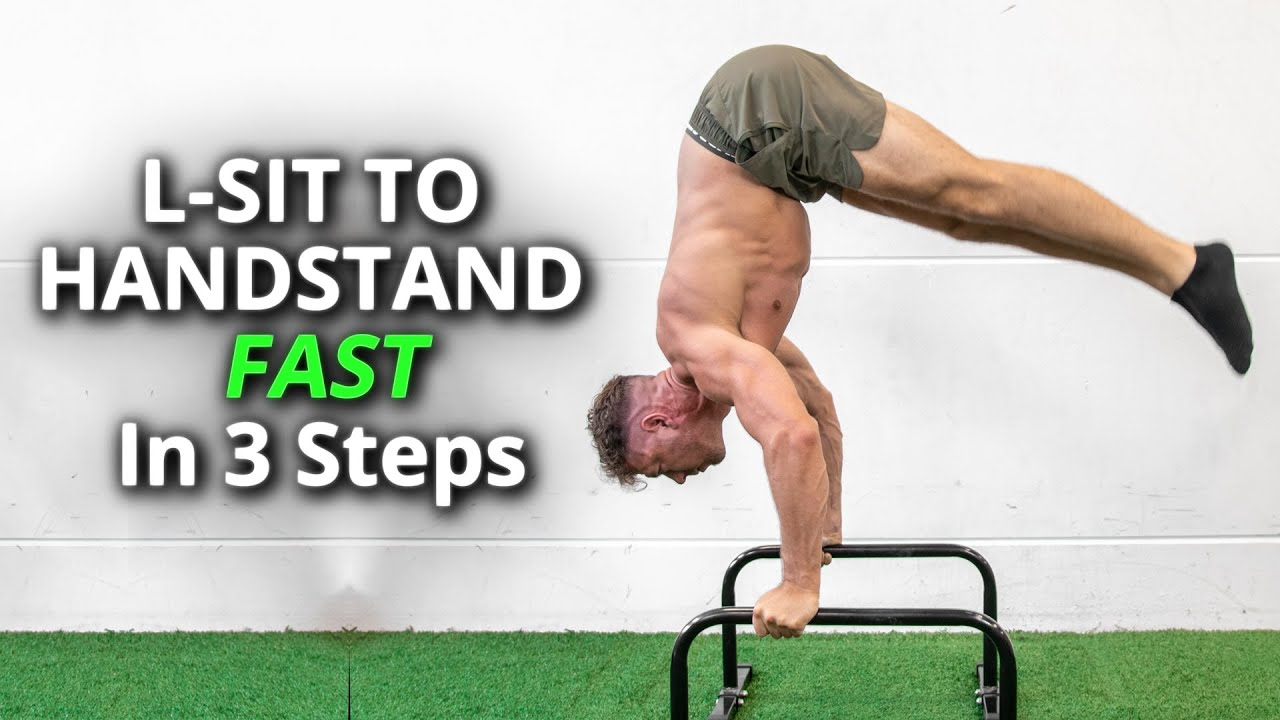 How To L-sit to Handstand FAST in 3 Steps
