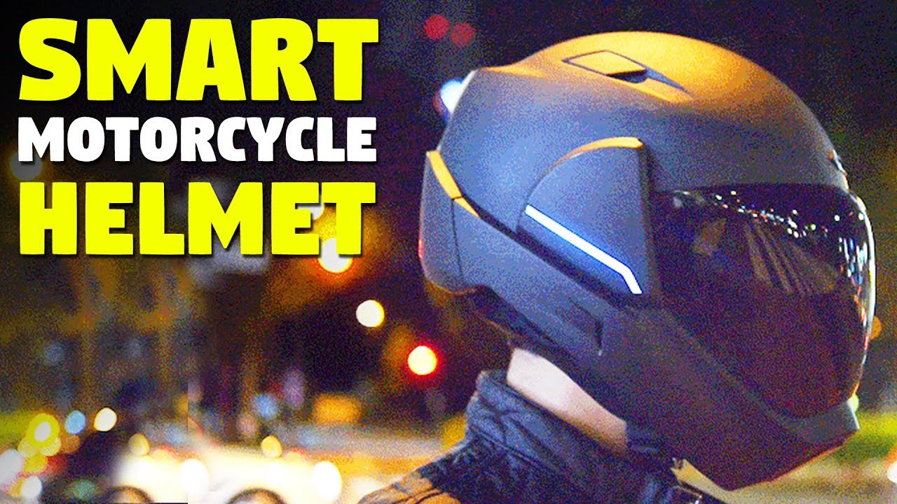 Smart Motorcycle Helmet With Rear View Camera Youtube