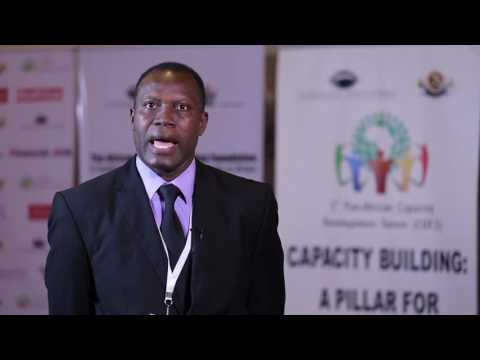 Roger Atindehou of ACBF at the 3rd Pan African Capacity Development Forum
