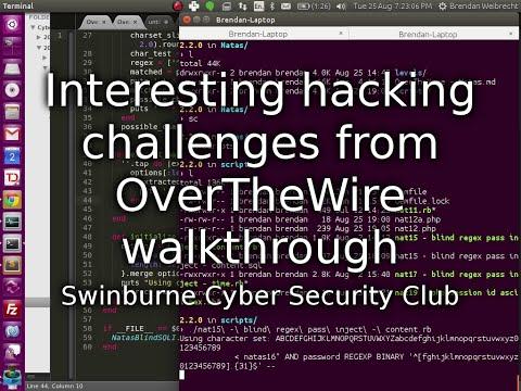 OverTheWire challenges walkthrough by Brendan Weibrecht - SCSC club meeting 08