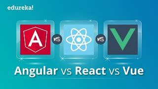 Angular vs React vs Vue | Javascript Frameworks Comparison | Which One You Should Learn? | Edureka