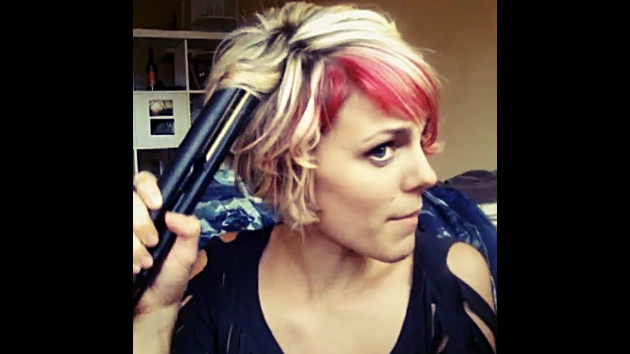 How To Curl Short Hair With A Flat Iron Youtube