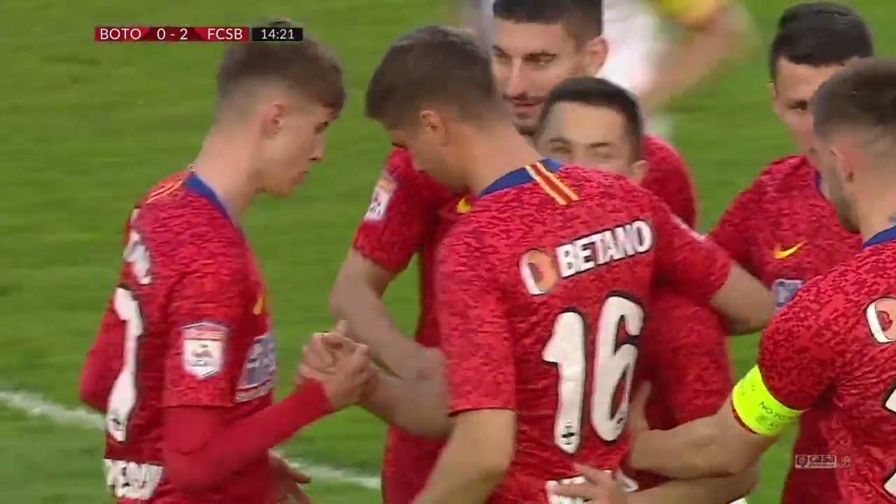 FCSB, start de vis la Botoşani. Două goluri în 14 minute