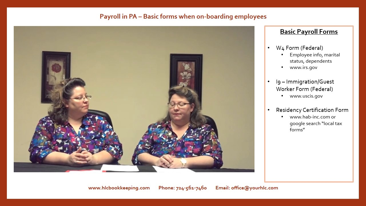 Twin Talk Payroll In Pa Basic Forms Youtube