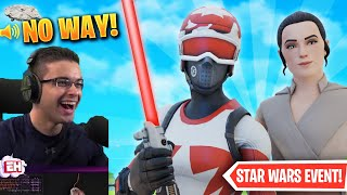 Nick Eh 30 reacts to Star Wars in Fortnite!