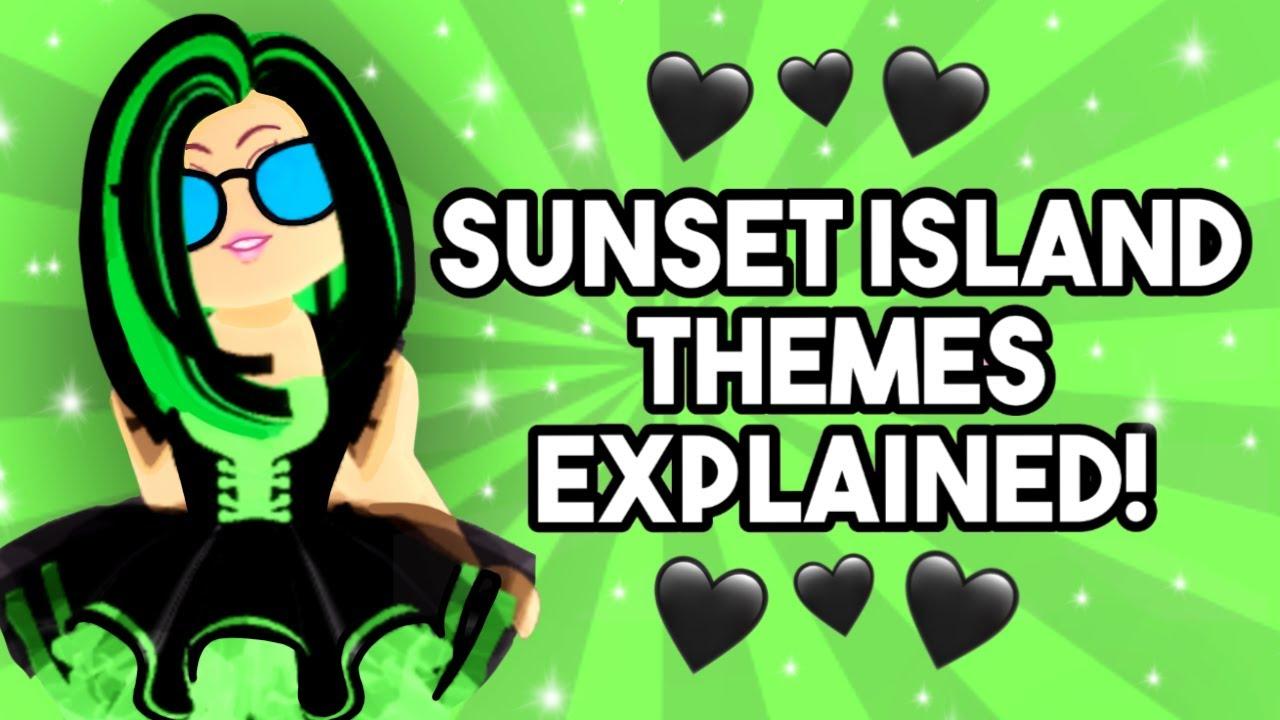 Royale High Sunset Island Themes *EXPLAINED* (Channel Anniversary Edition) Royale High Sunset Island