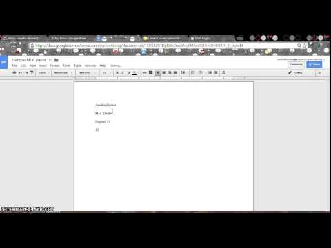 MLA Paper Formatting - Google Drive