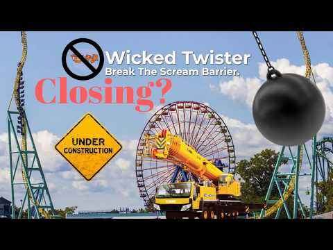 Cedar Point - Removal of the Wicked Twister