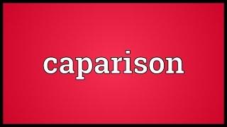 Caparison Meaning