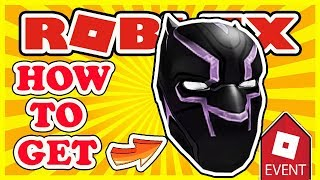 [EVENT] How To Get the Black Panther Mask | Roblox Black Panther Innovation Event - Free Item