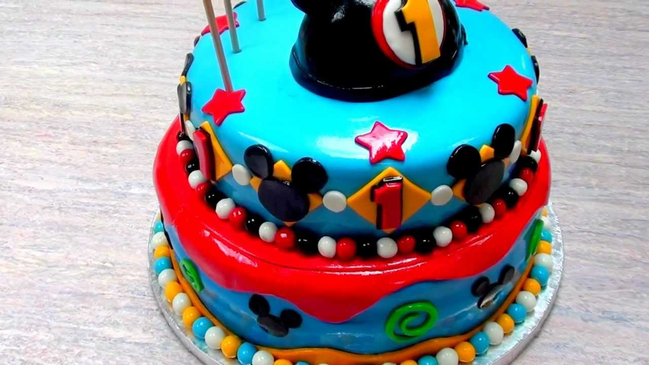 The Cake Don The Mickey Mouse 1st Birthday Cake Youtube