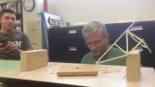 Balsa Wood Truss Bridge Break