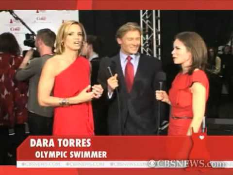 Dara Torres Backstage at Heart Truth