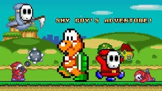 Shy Guy's Adventure • Super Mario World ROM Hack (Longplay/Playthrough)