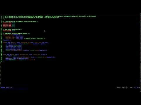 Speed coding a small virtual machine