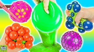 Big Mesh Ball Slime Smoothie! Cutting Open Wubble Fulla Slime! Doctor Squish
