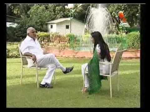 Karnataka CM BS Yeddyurappa interview by Ramya