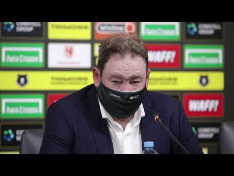 Послематчевое интервью с Леонидом Слуцким. Матч