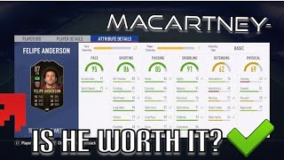 IS TIF FELIPE ANDERSON WORTH IT? | TIF FELIPE ANDERSON PLAYER REVIEW! #FIFA19 ULTIMATE TEAM!