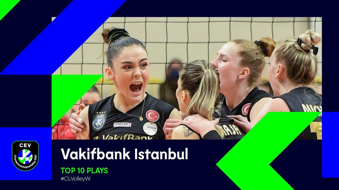Vakifbank Istanbul Top 10 Plays of the 2021 season - #CLVolleyW